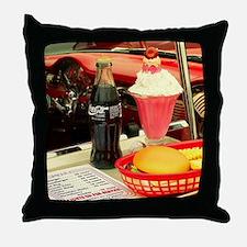 Cute Burger and fries Throw Pillow