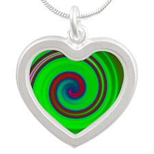Spiral Green Pink Blue Necklaces