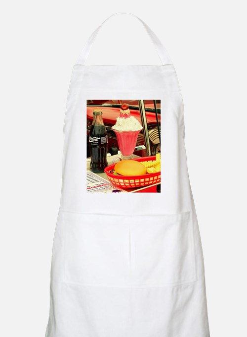 vintage rockabilly burger fries cola sundae Apron