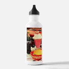 vintage rockabilly bur Water Bottle