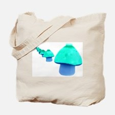 Blue Mushroom Tote Bag