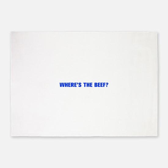 Where s the Beef-Akz blue 5'x7'Area Rug