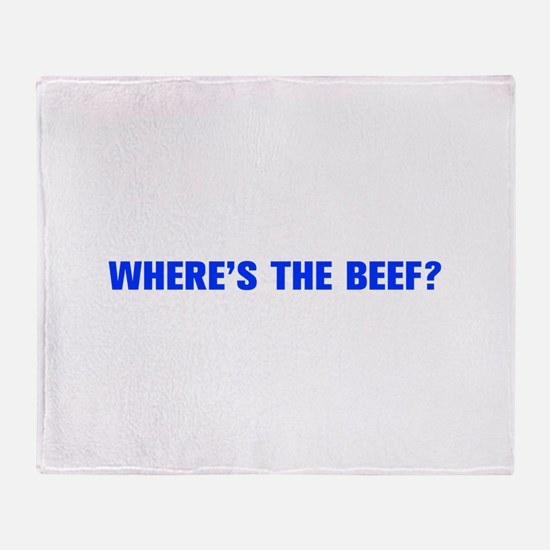 Where s the Beef-Akz blue Throw Blanket