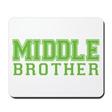 middle brother varsity Mousepad