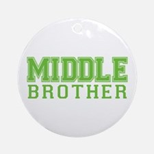 middle brother varsity Ornament (Round)
