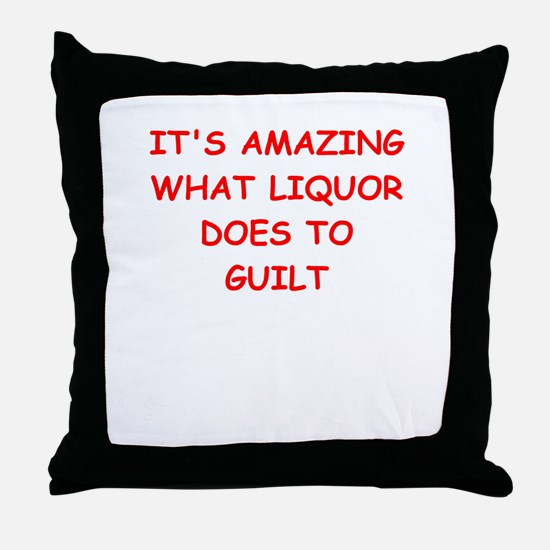 liquor Throw Pillow
