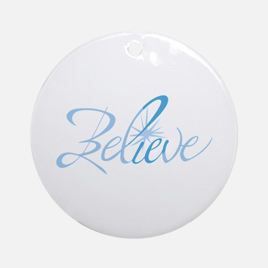 BELIEVE LETTERING Ornament (Round)