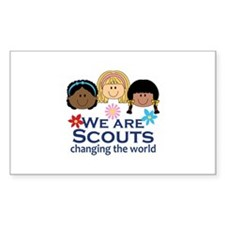 We Are Scouts Changing The World Decal