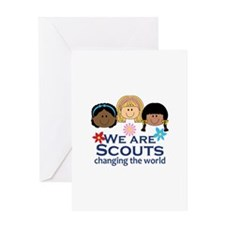 We Are Scouts Changing The World Greeting Cards