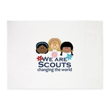 We Are Scouts Changing The World 5'x7'Area Rug