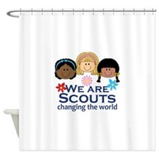 We Are Scouts Changing The World Shower Curtain
