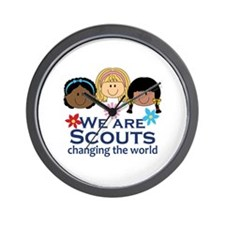 We Are Scouts Changing The World Wall Clock