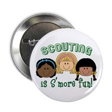"""Scouting Is S'more Fun! 2.25"""" Button (10 pack)"""