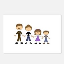 STICK FIGURE FAMILY Postcards (Package of 8)