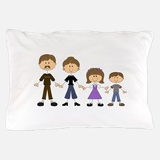STICK FIGURE FAMILY Pillow Case