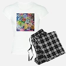 Multi Color Grunge Circles Pajamas