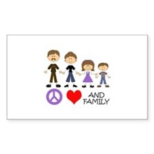 Peace Love And Family Decal
