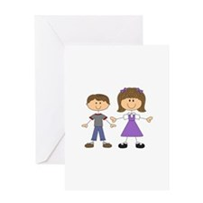 BIG SISTER LITTLE BROTHER Greeting Cards