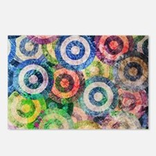 Multi Color Grunge Circle Postcards (Package of 8)