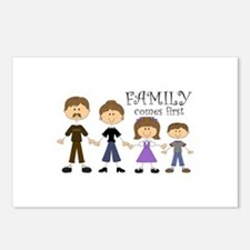 Family Comes First Postcards (Package of 8)