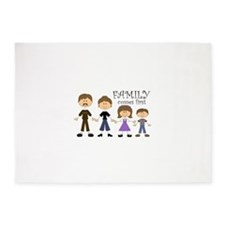 Family Comes First 5'x7'Area Rug