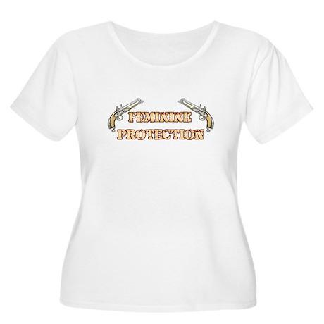 Feminine Protection Women's Plus Size T-Shirt