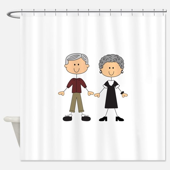 GRANDPA AND GRANDMA Shower Curtain