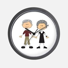 GRANDPA AND GRANDMA Wall Clock
