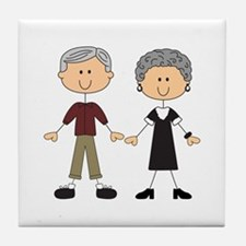 GRANDPA AND GRANDMA Tile Coaster