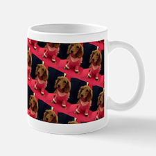 Kawaii Pink Dachshund Doggie for Bogie Mugs