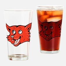 Fox Head Drinking Glass