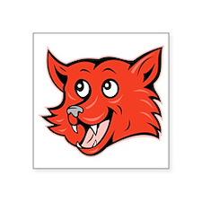 """Fox Head Square Sticker 3"""" x 3"""""""