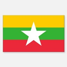 Myanmar Flag Decal
