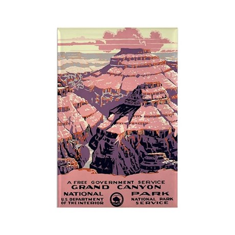 1930s Vintage Grand Canyon National Park Rectangle