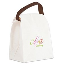 CELEBRATE EACH DAY Canvas Lunch Bag