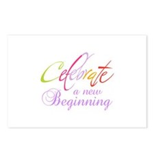 CELEBRATE NEW BEGINNING Postcards (Package of 8)