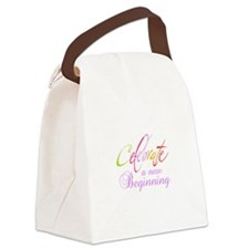 CELEBRATE NEW BEGINNING Canvas Lunch Bag