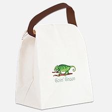 GOIN GREEN LIZARD Canvas Lunch Bag
