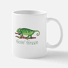 GOIN GREEN LIZARD Mugs
