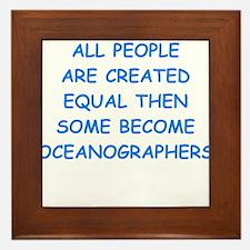 oceanographer Framed Tile