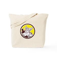 Norse God Odin Raven Circle Tote Bag