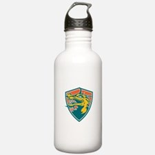 Chinese Dragon Head Shield Retro Water Bottle