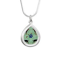 Kelpie Silver Teardrop Necklace