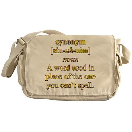 synonym messenger bag by jhndesigns