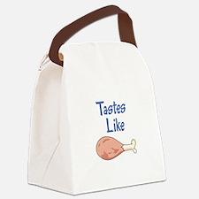 TASTES LIKE CHICKEN Canvas Lunch Bag