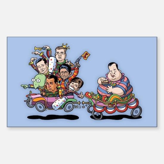 Clown Car 5-15 Sticker (Rectangle)