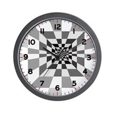 Op Art Hall Square Wall Clock