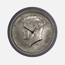 Kennedy Half Dollar Wall Clock