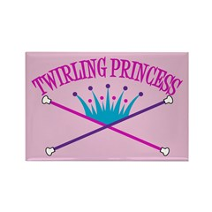 Twirling Princess Rectangle Magnet (10 pack)