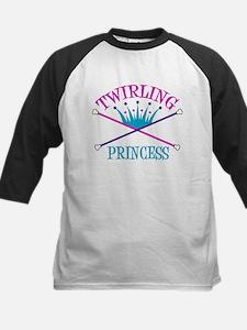 Twirling Princess Kids Baseball Jersey